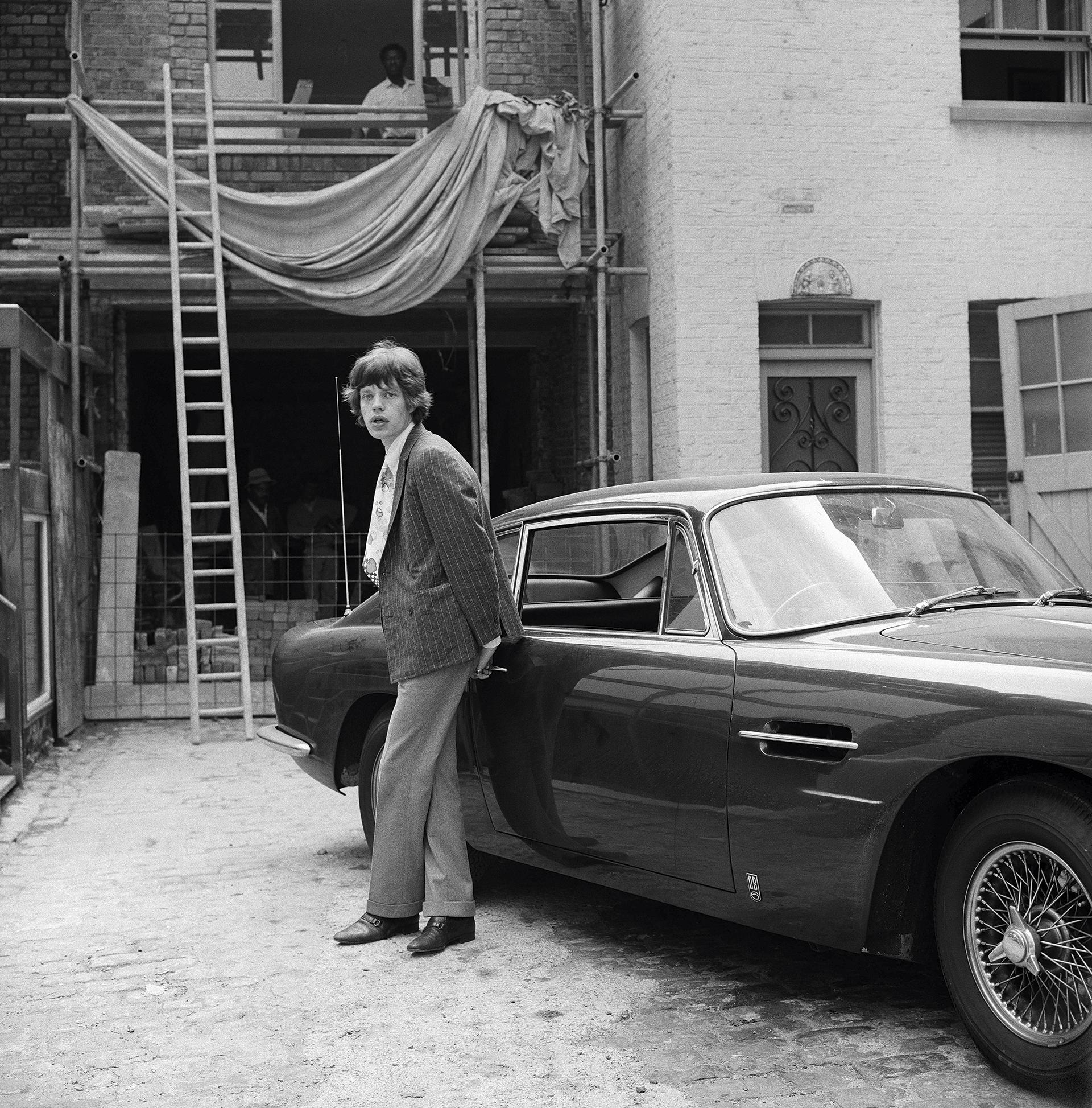 Mick Jagger at Chrissie Shrimpton's Baker Street Mews House