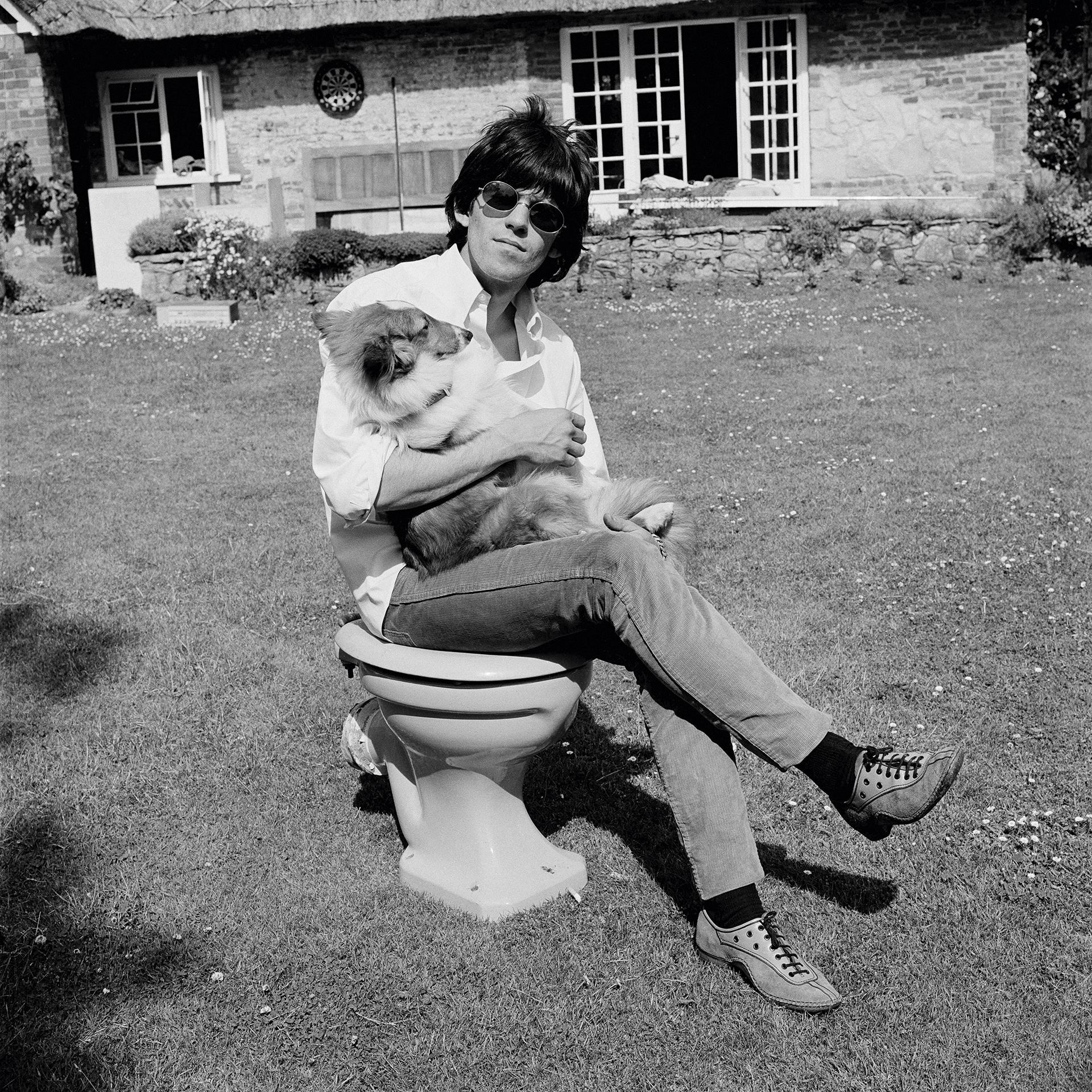 Keith Richards at home in Redlands, East Sussex