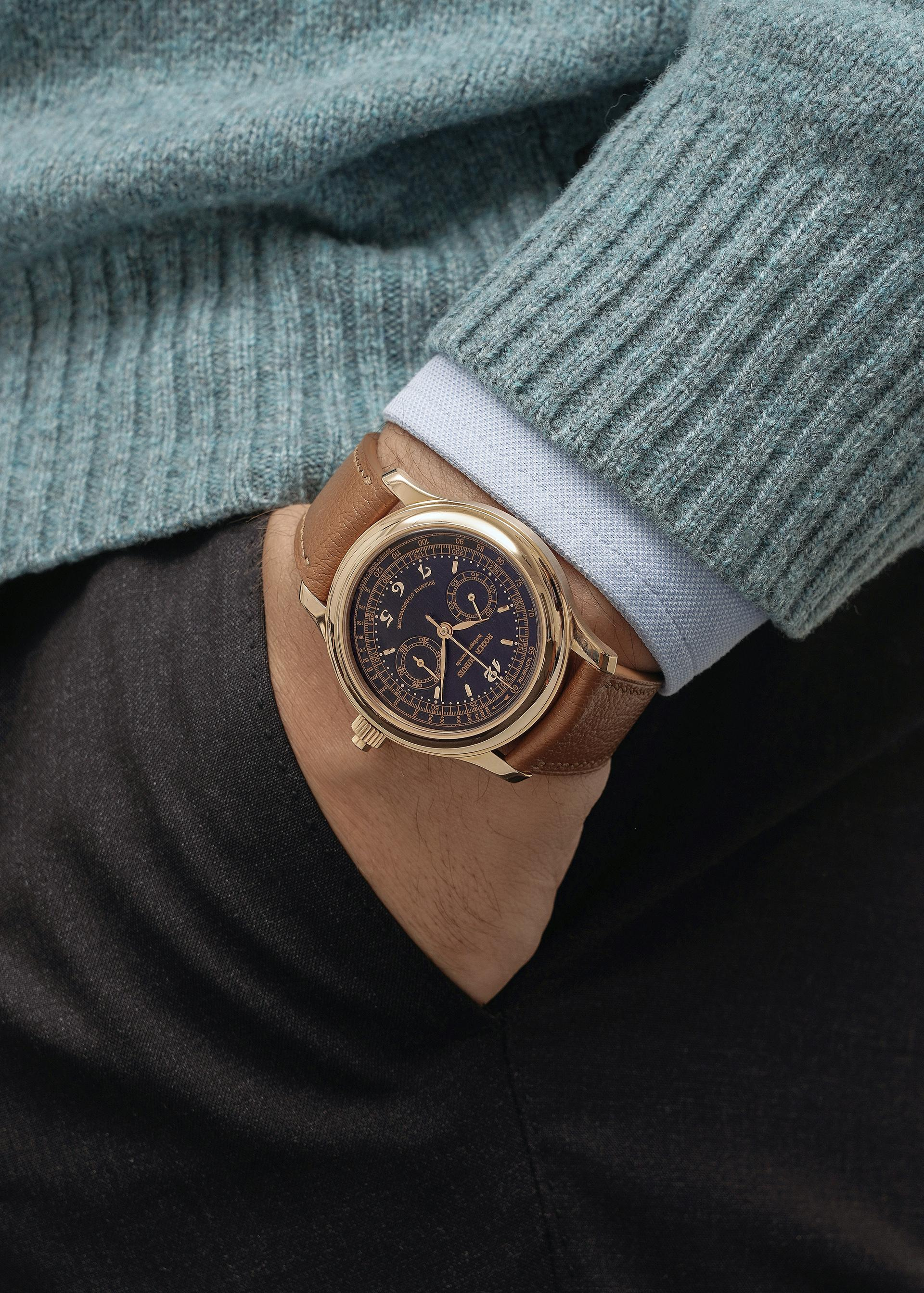 Roger Dubuis Hommage H40 monopusher in pink gold