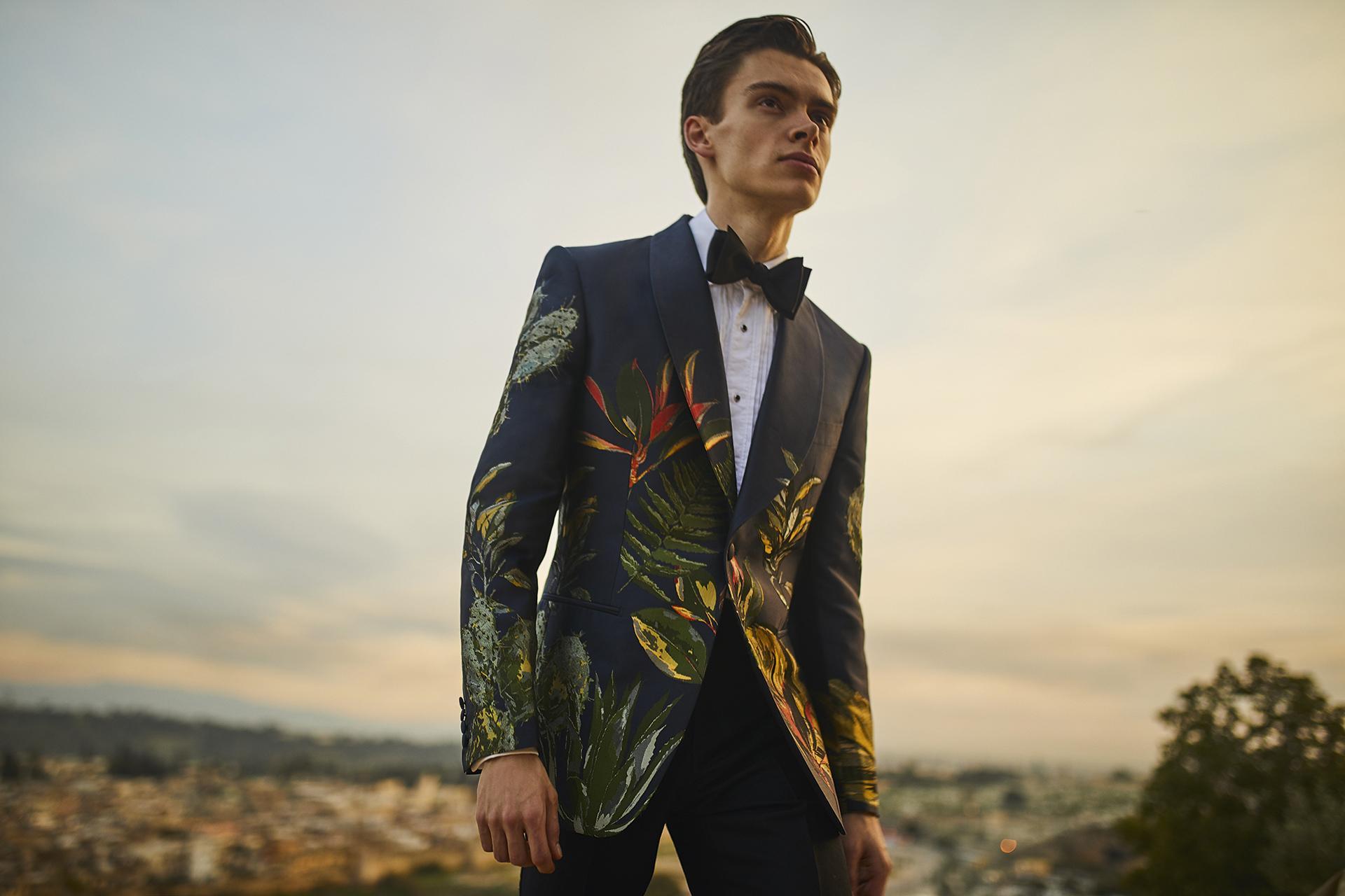Mathias LeFevre in black tie