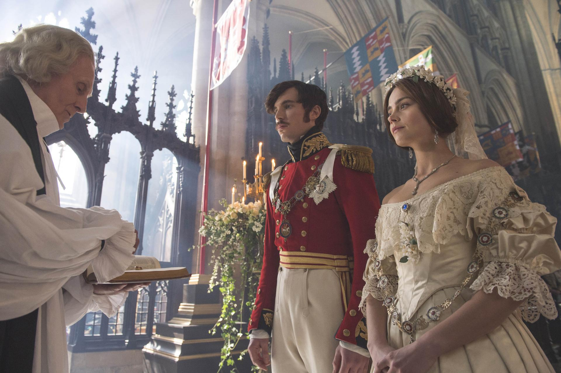 Queen Victoria and Prince Albert in ITV series Victoria