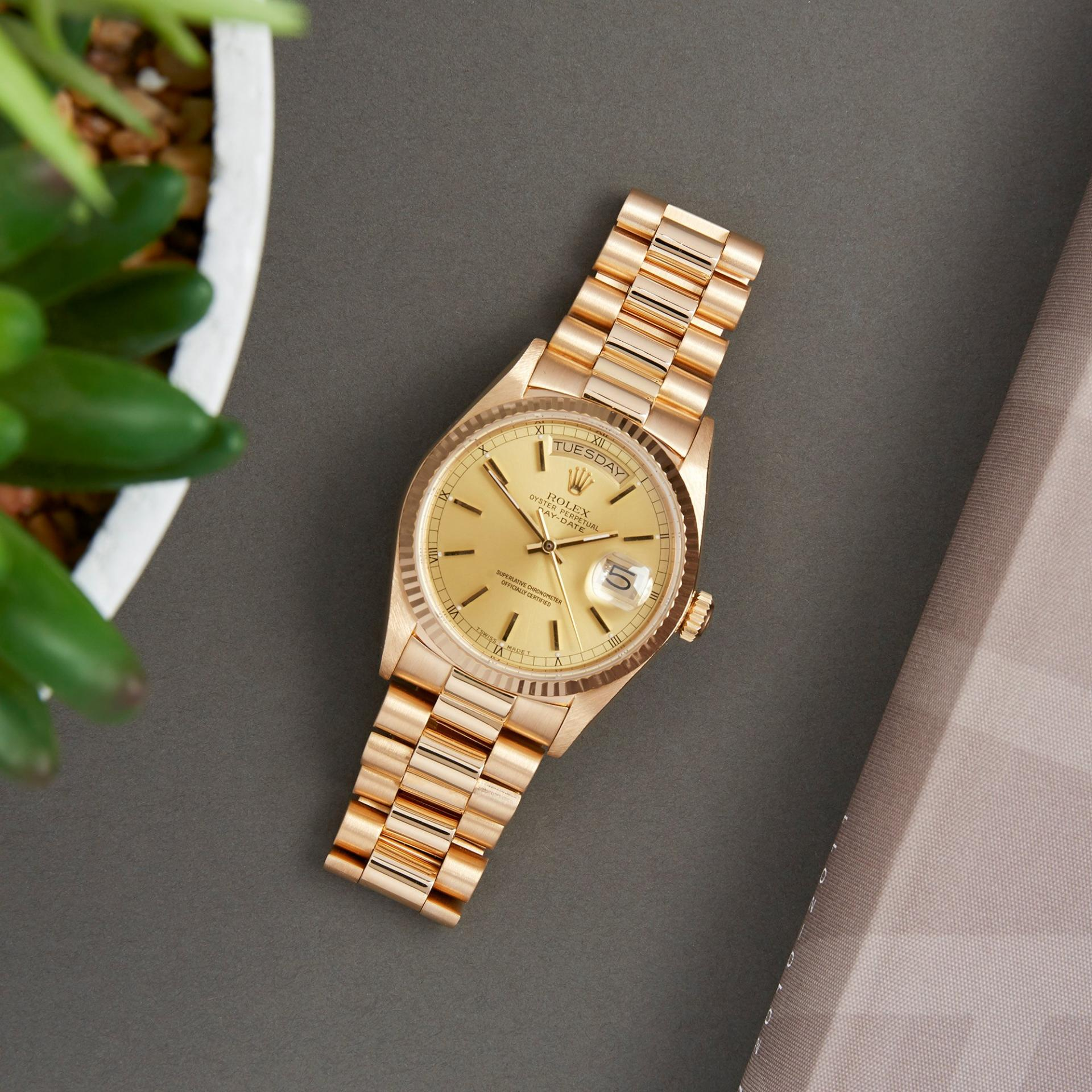 Rolex 36mm Day-Date Yellow and White Gold ref. 18038, 18039, 18238 and ref. 18239