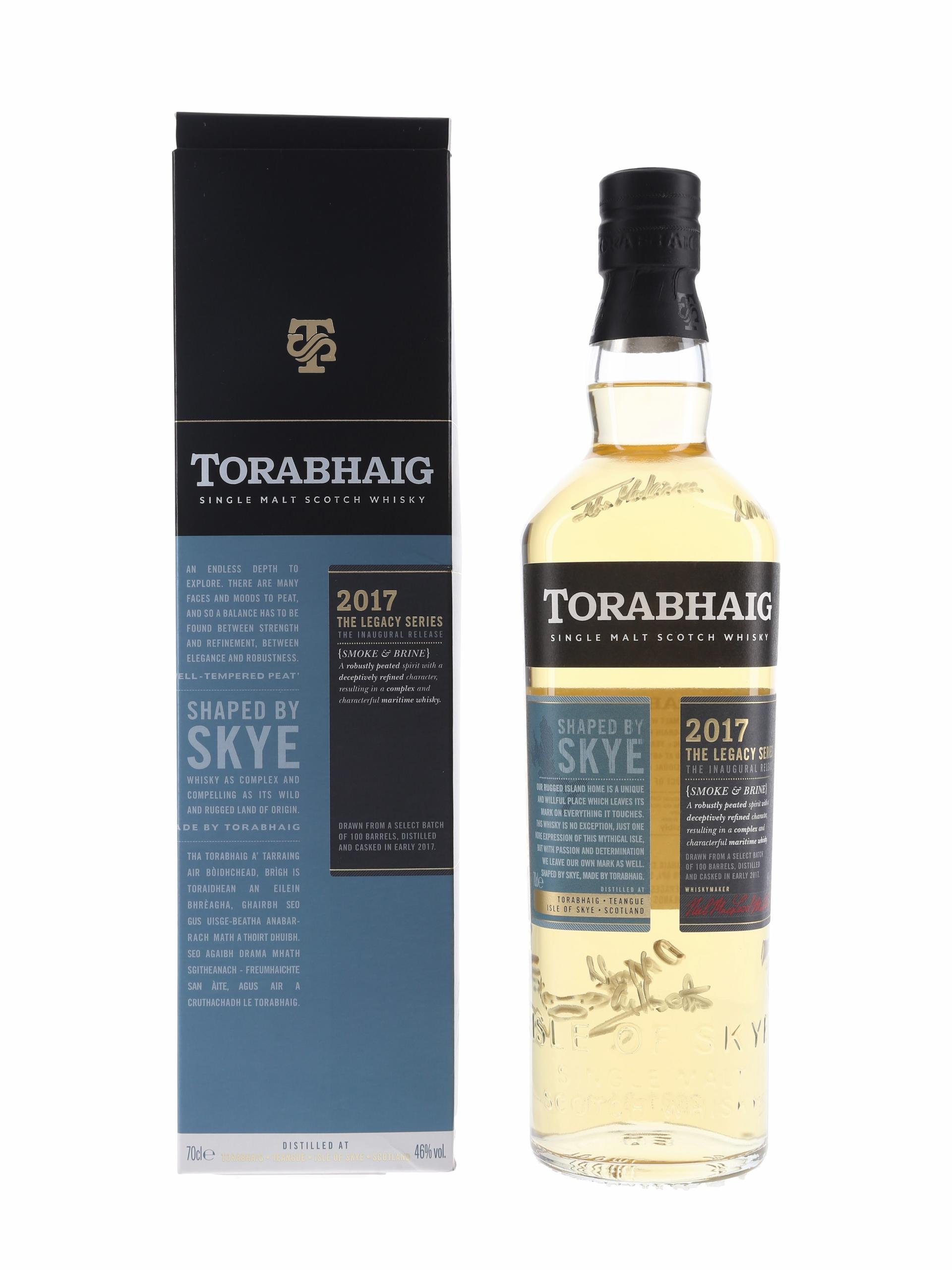 Torabhaig Owner's Reserve Bottle No.1 & 2017 Legacy Series Inaugural Releases Signed By The Distillery Team