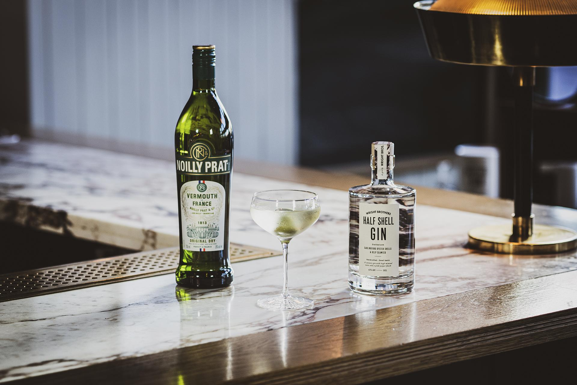 Wright Brother's gin and Noilly Prat