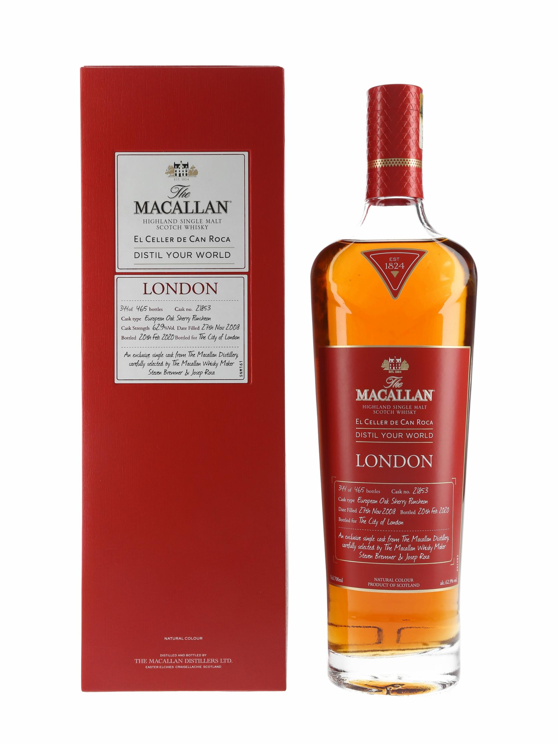 Macallan 2008 Distil Your World London Edition Bottled 2020 - Single Cask