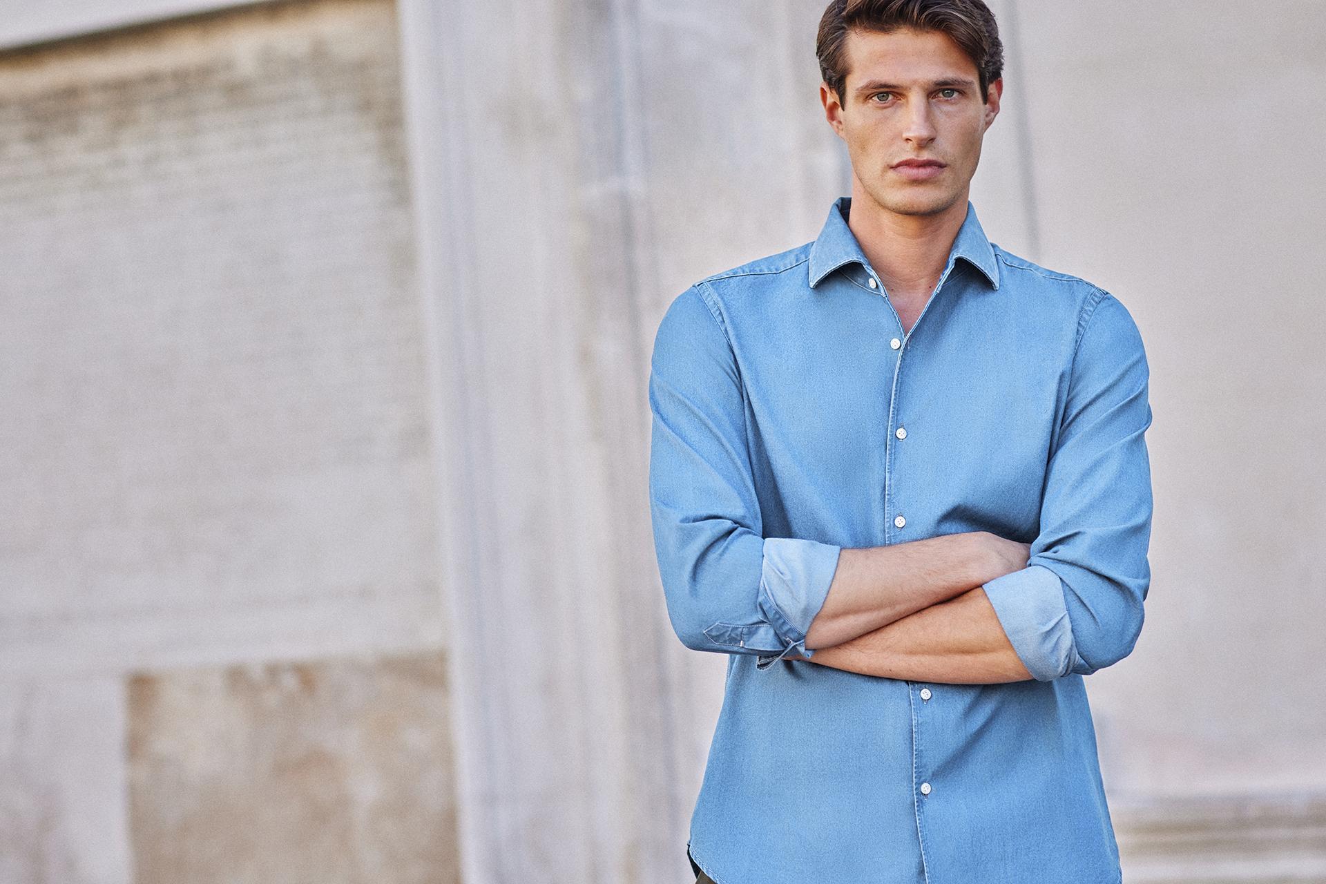 Luca Faloni blue shirt, £140