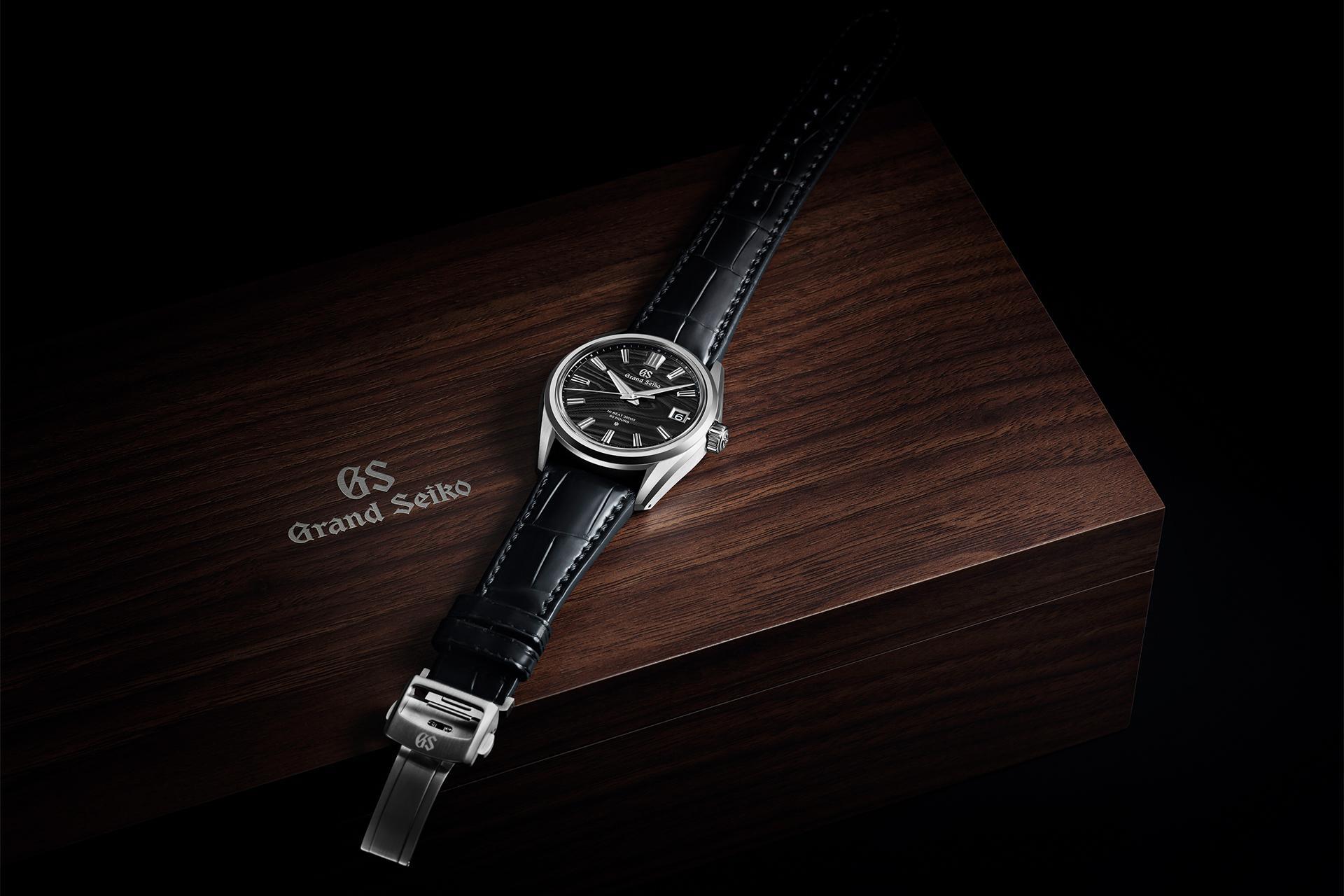 Grand Seiko Platinum High Beat Black Dial Tree Rings Ref SLGH007 2021 watch