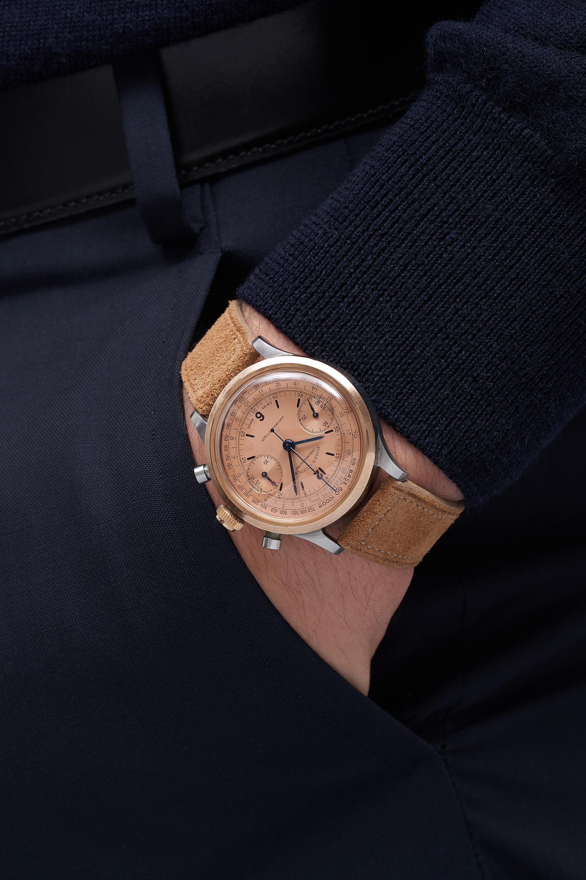 """Rolex """"Barilotto"""" Ref. 3525 watch, Phillips Geneva Watch Auction 2021"""