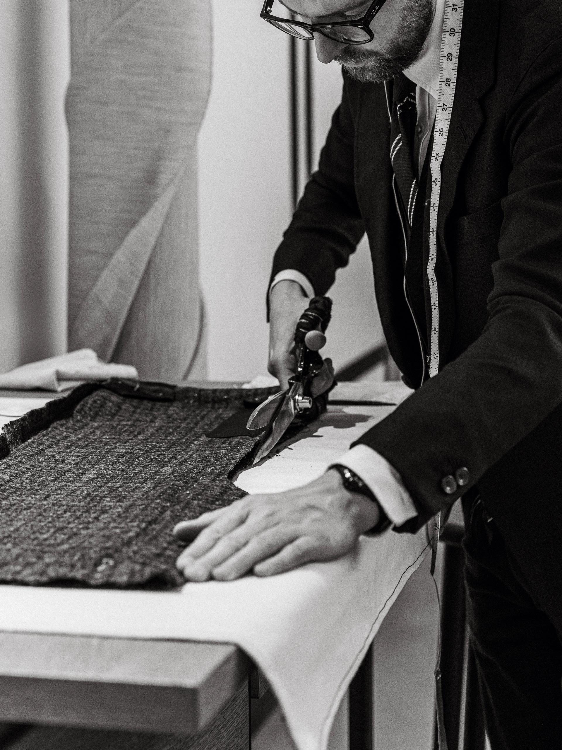 Eithen Sweet, head cutter at Thom Sweeney tailors