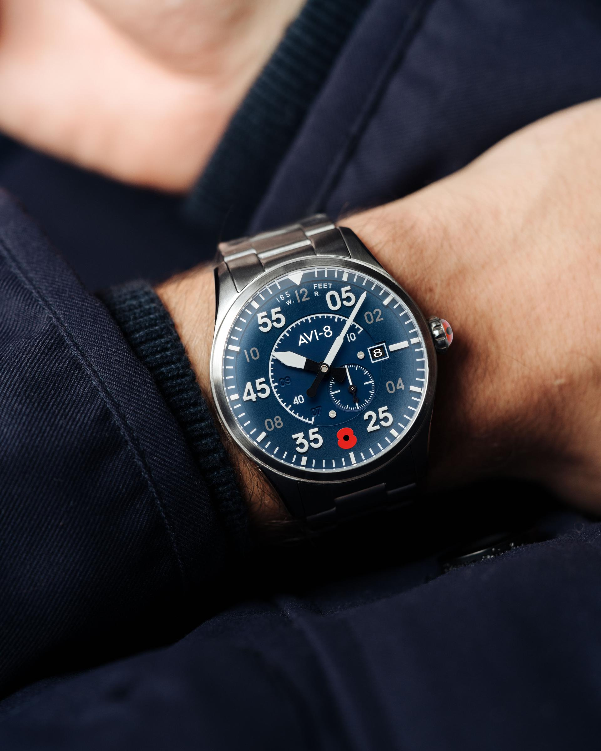 The limited-edition AVI-8 Spitfire Type 300 Automatic Royal British Legion