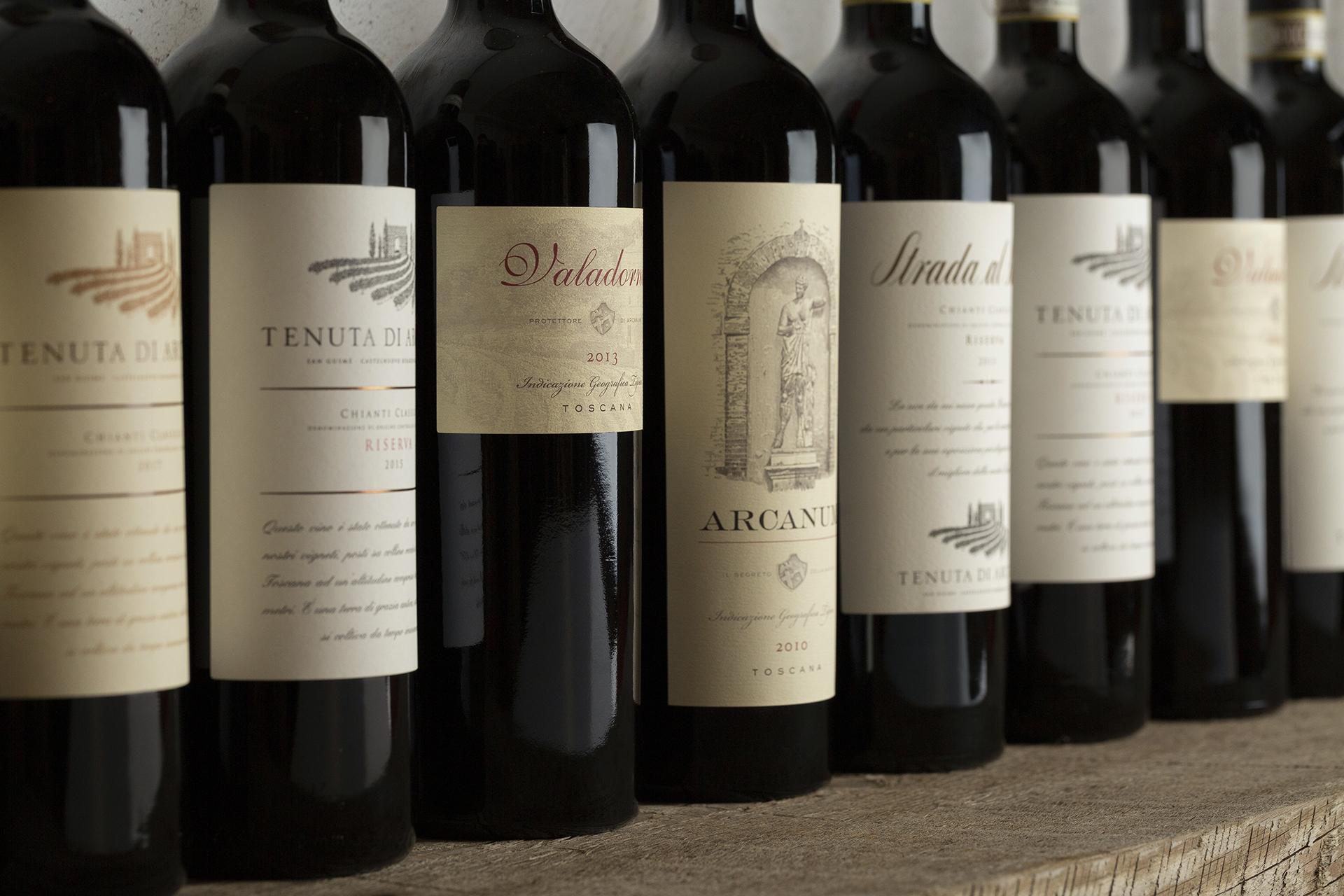 Tenuta di Arceno's impressive line-up of reds