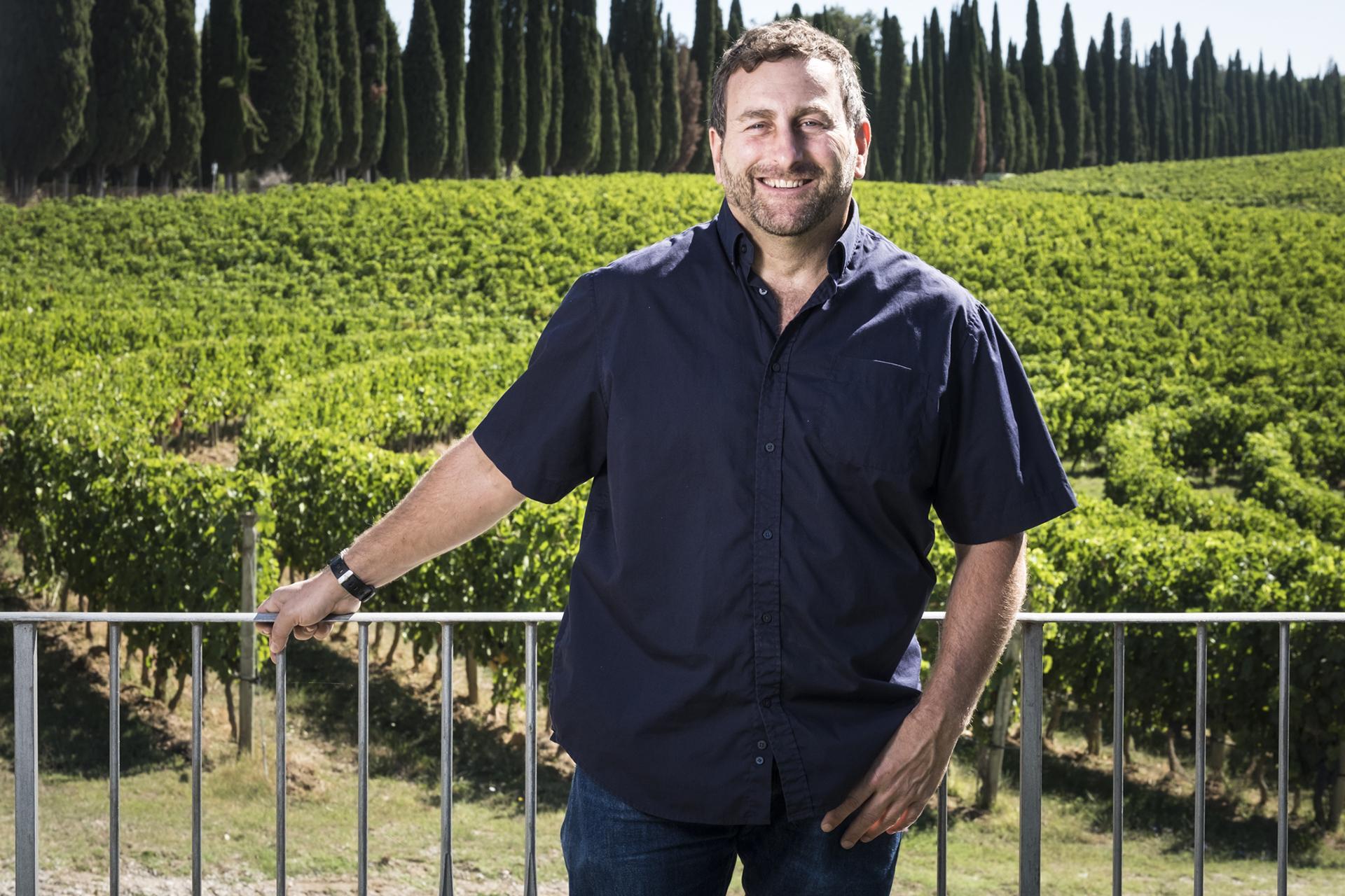 Lawrence Cronin, winemaker for the Tenuta di Arceno Estate in Tuscany, Italy.