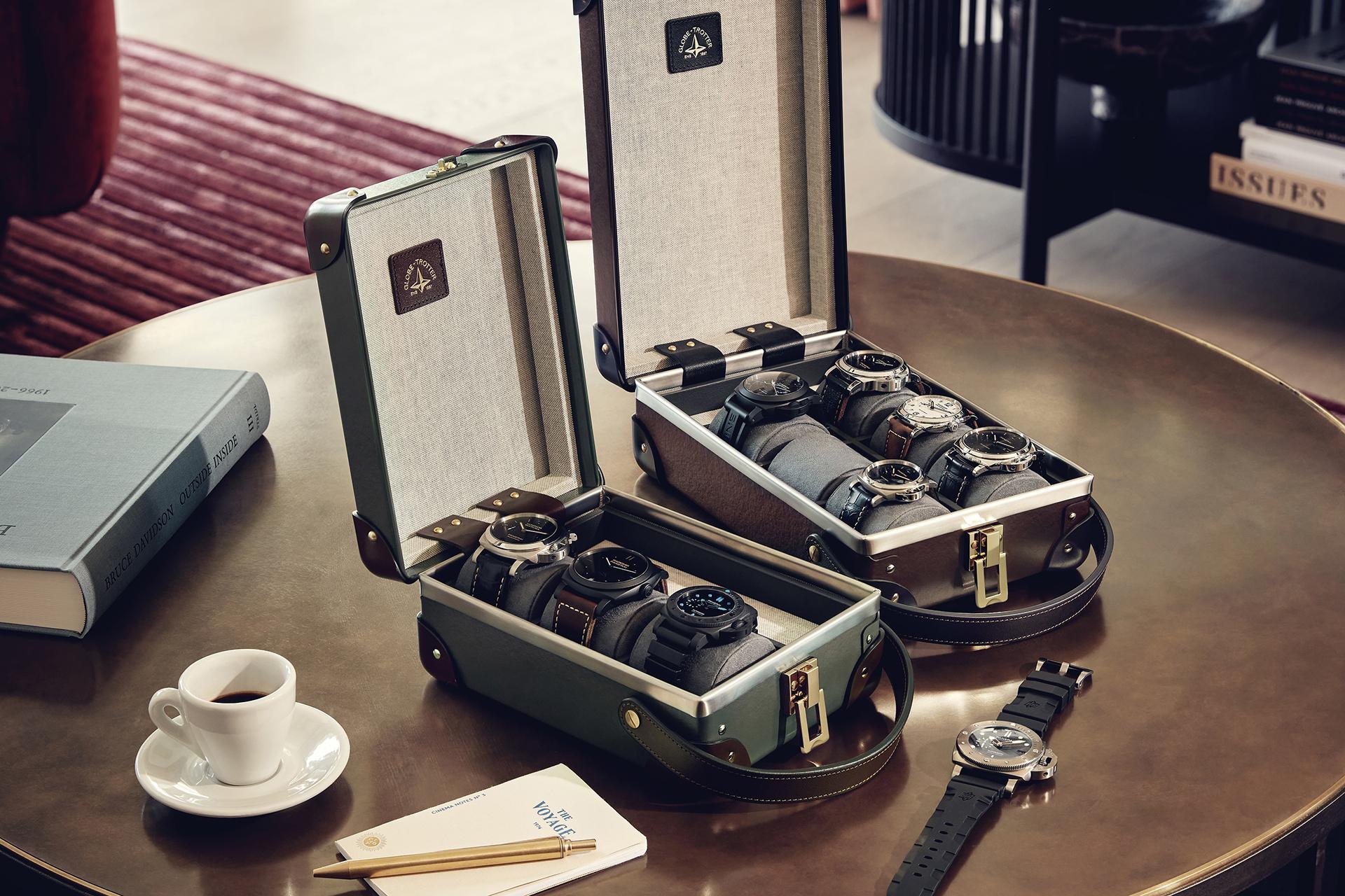Globe-Trotter Safari 6 Slot Watch Case