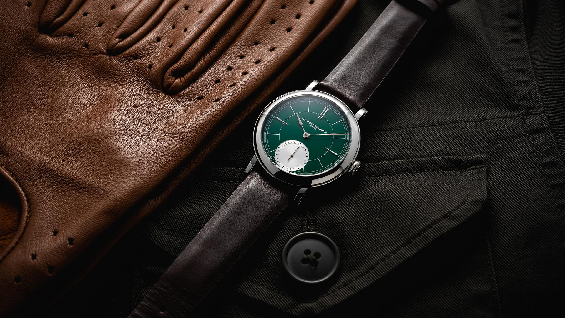 Laurent Ferrier Galet Micro-Rotor 'Montre Ecole' British Racing Green, best car-inspired watches