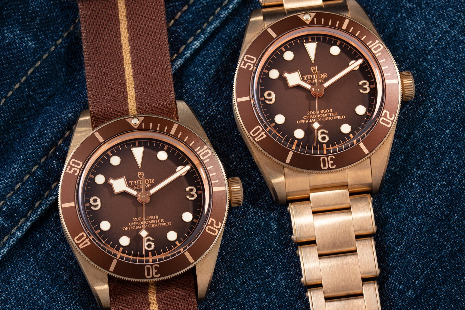 Tudor Black Bay Fifty-Eight Bronze, brown NATO strap, new Tudor watch 2021