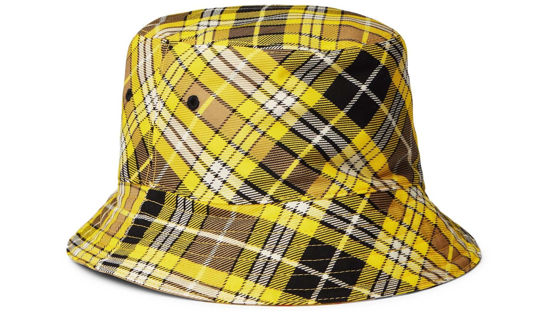 BURBERRY – Reversible Checked Wool-Blend Twill Bucket Hat