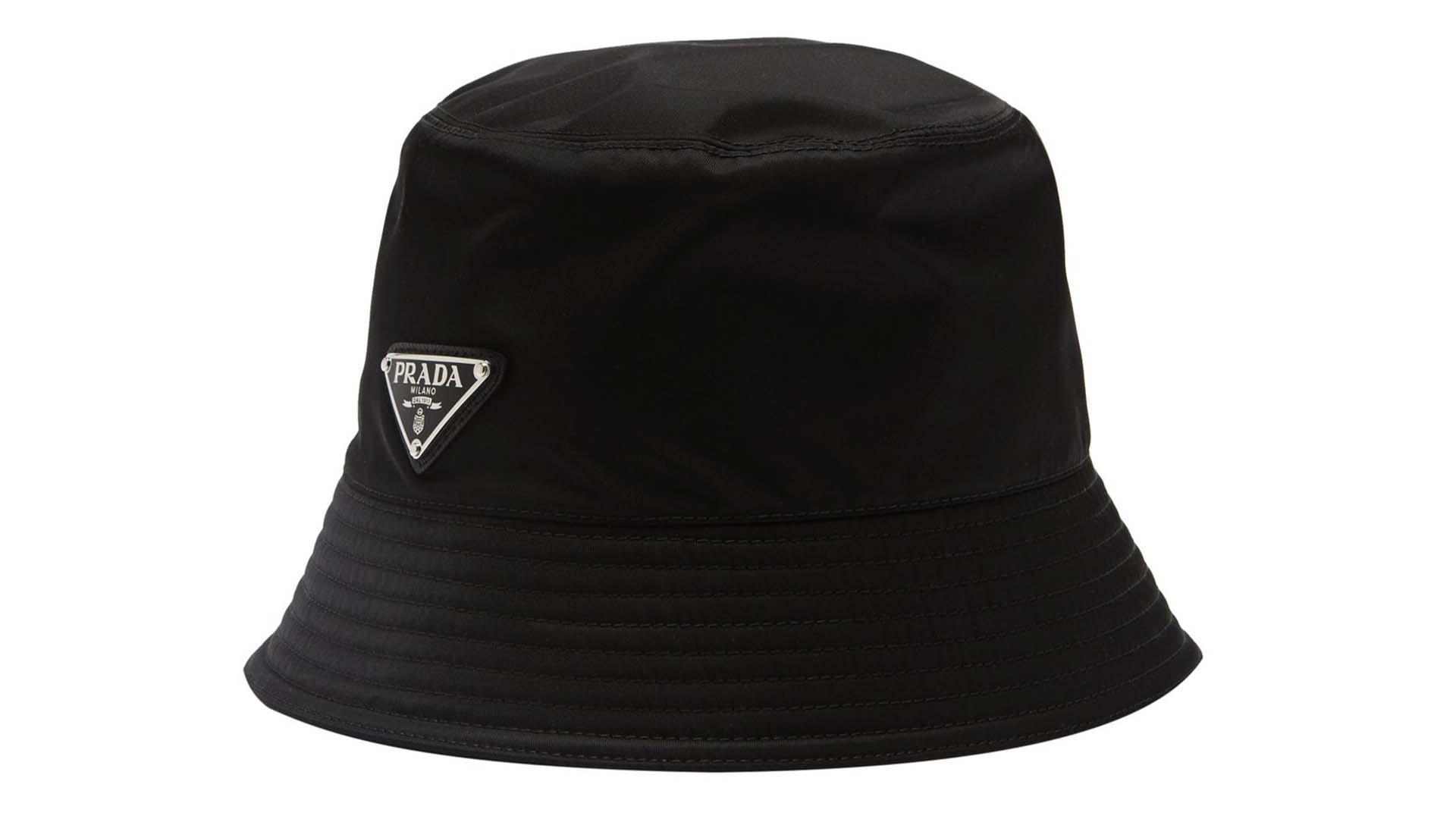 PRADA Triangle Logo-Plaque Bucket Hat