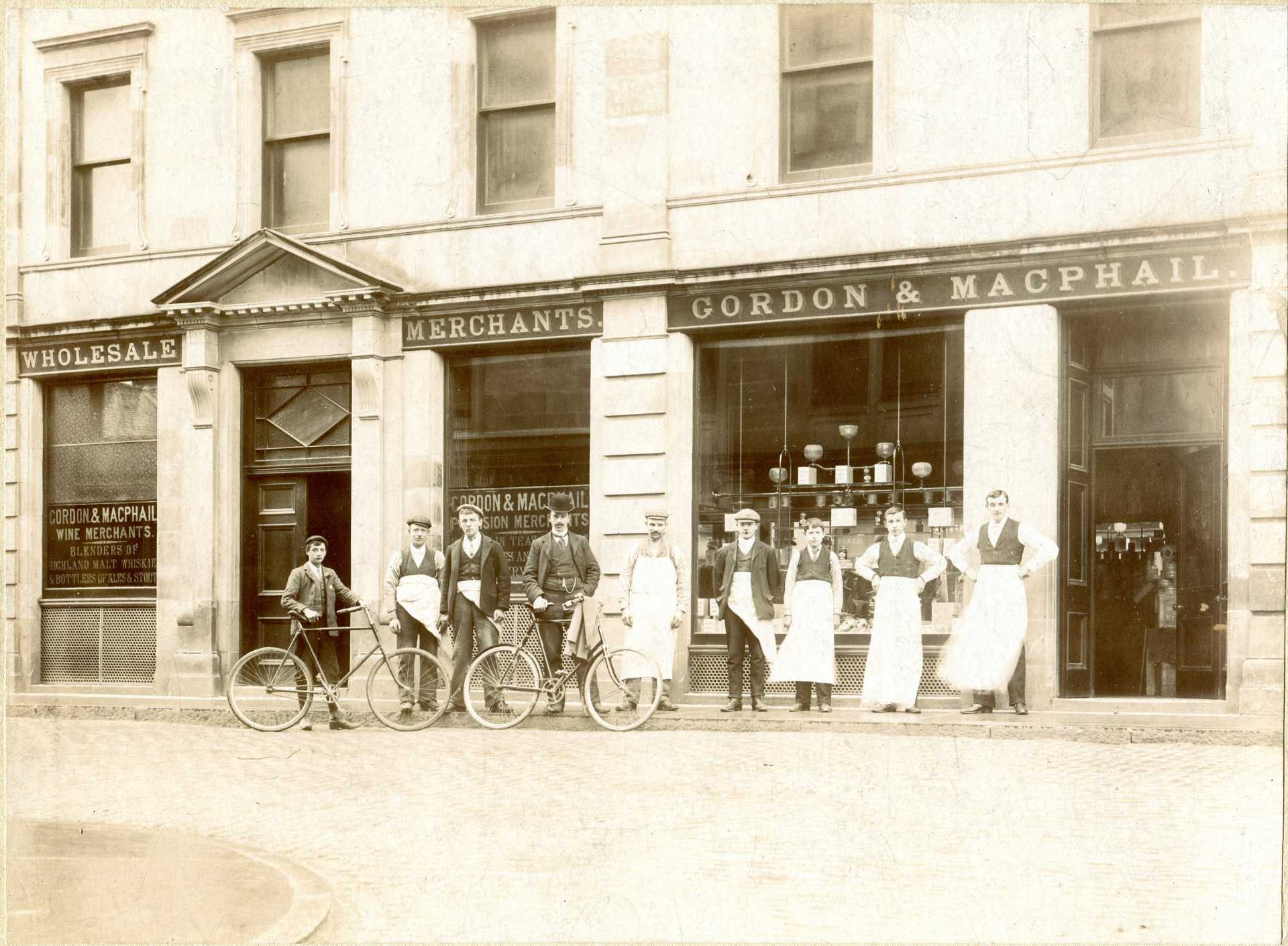 Archive image of Gordon MacPhail shop in Elgin, founded in 1895