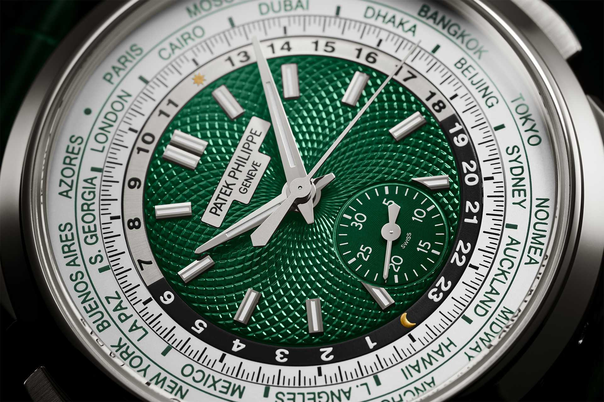 Patek Philippe self-winding world time flyback chronograph Ref. 5930P-001