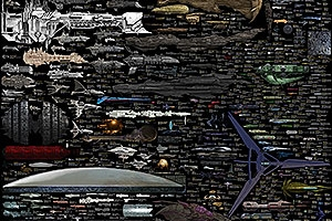 SciFi Starship Size Comparison Chart