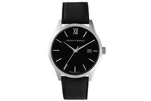 Larsson & Jennings automatic watch in matte steel and black
