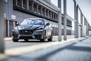 Jaguar XF S on the race track